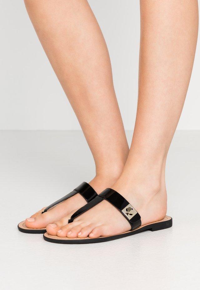 CATANIA  - T-bar sandals - black