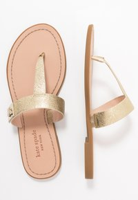 kate spade new york - CATANIA - T-bar sandals - pale gold - 3