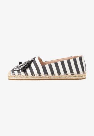 GARDEN ZEBRA - Loafers - black/white