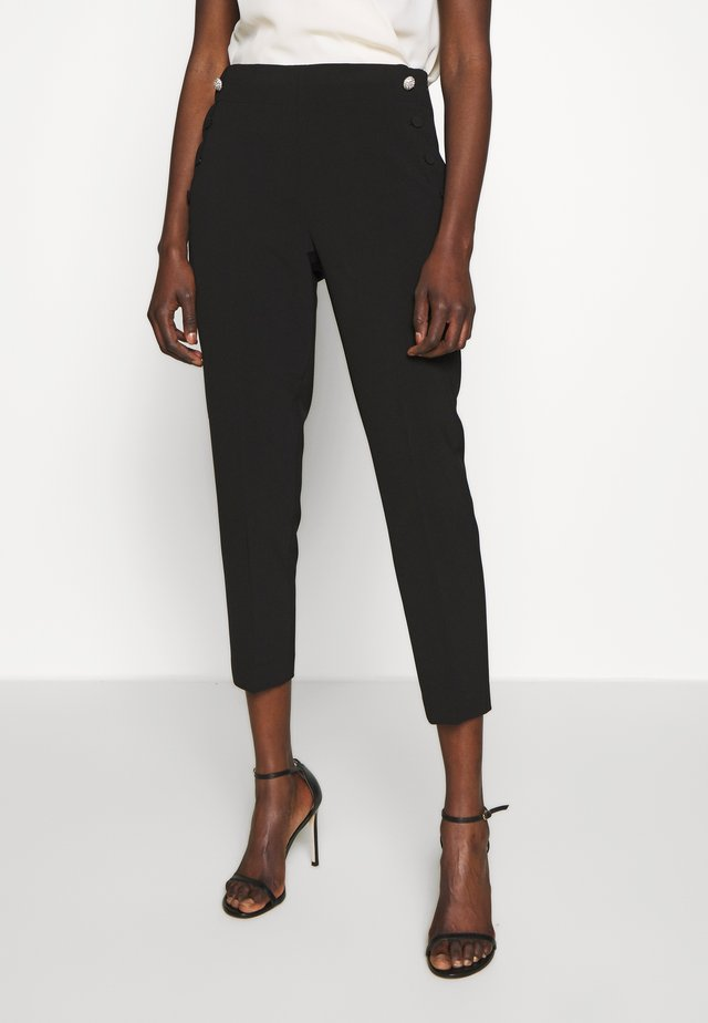 SCALLOP POCKET PANT - Bukse - black