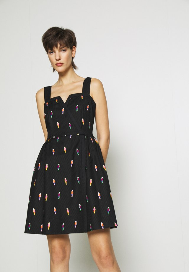 FLOCK PARTY JACQUARD DRESS - Sukienka letnia - black