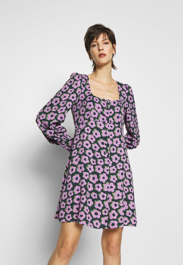 FLAIR FLORA FLUID MINI DRESS - Sukienka letnia - deepspruce