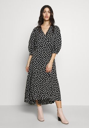 CLOUD DOT WRAP DRESS - Day dress - black