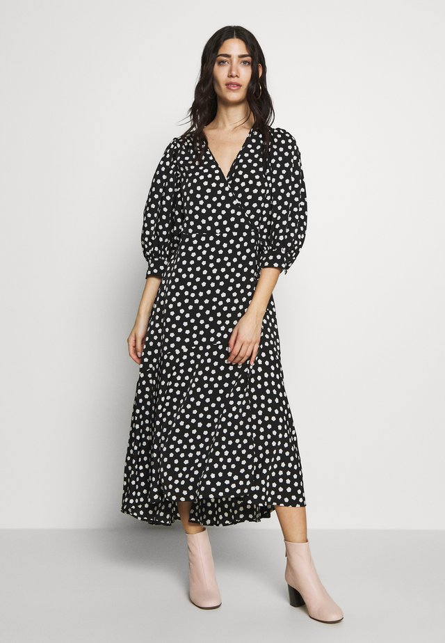 CLOUD DOT WRAP DRESS - Sukienka letnia - black