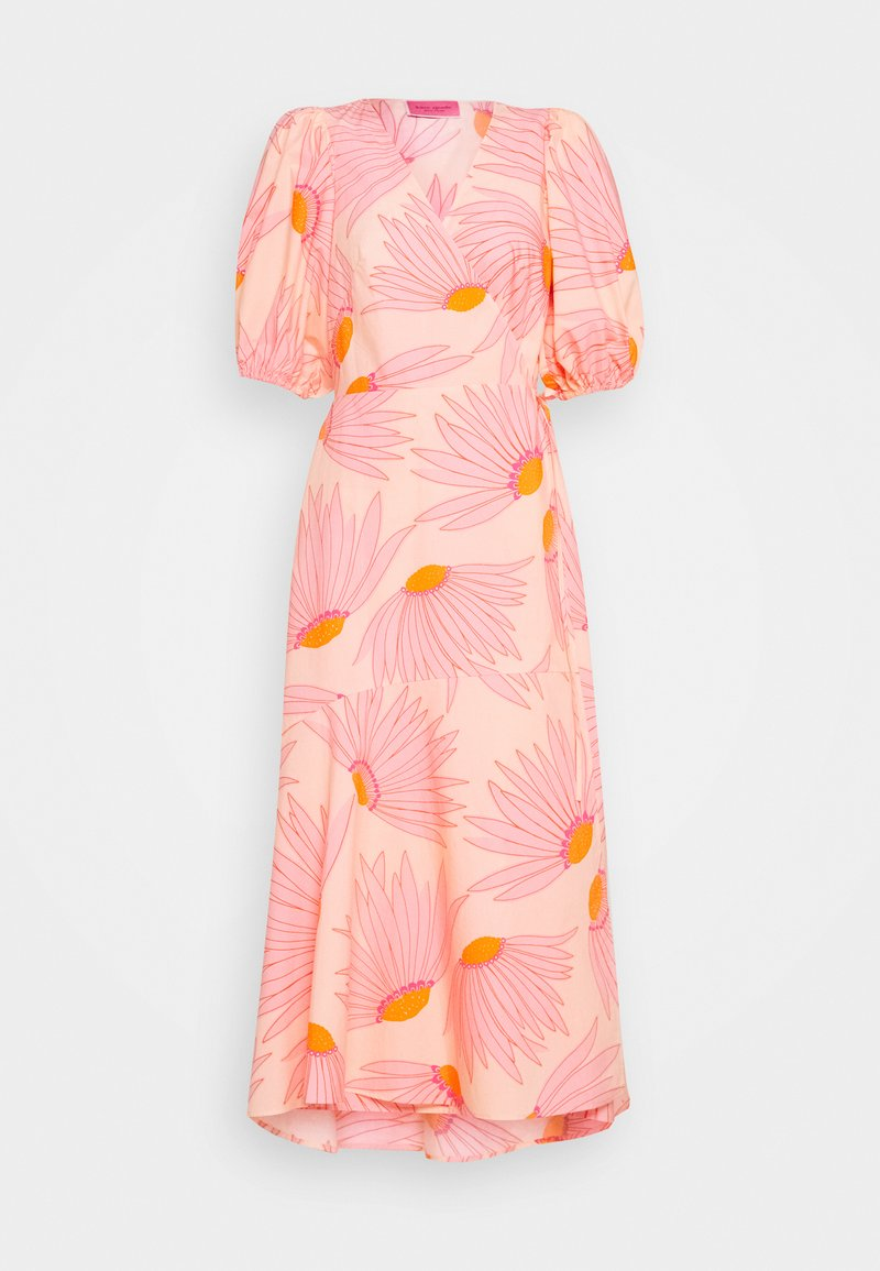 kate spade new york - GRAND DAISY WRAP DRESS - Day dress - light guava juice