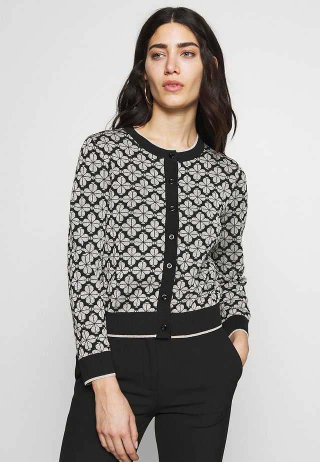 SPADE FLOWER CARDIGAN - Strickjacke - black/multi