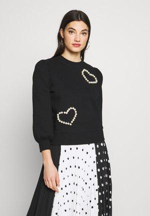 PEARL PAVE HEART - Sweatshirt - black