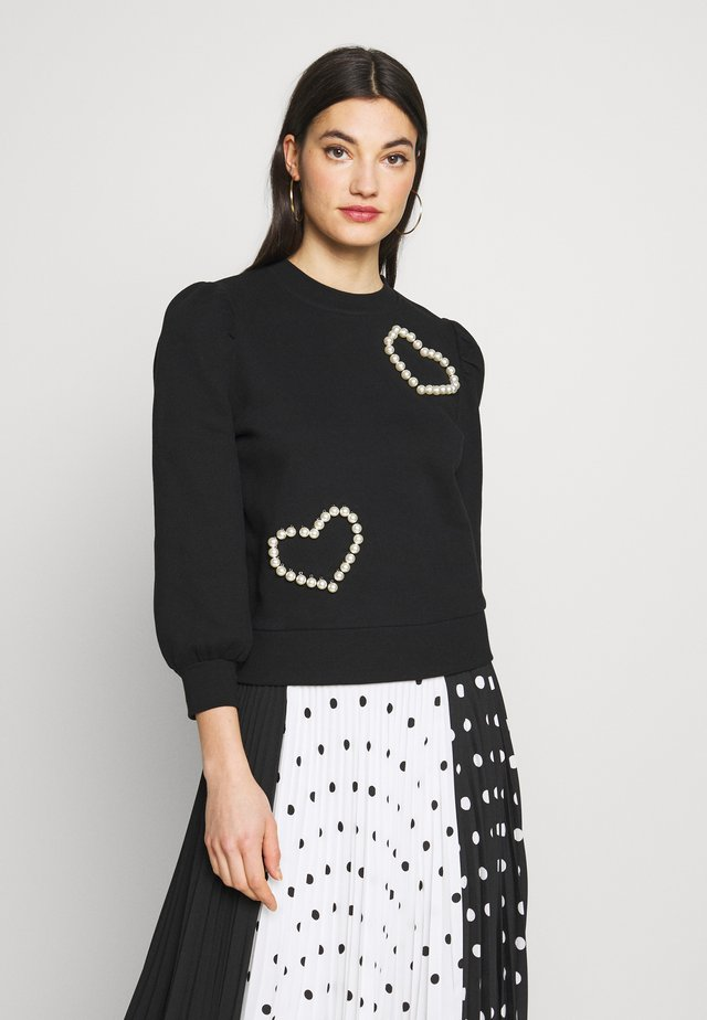 PEARL PAVE HEART - Sweatshirt - black