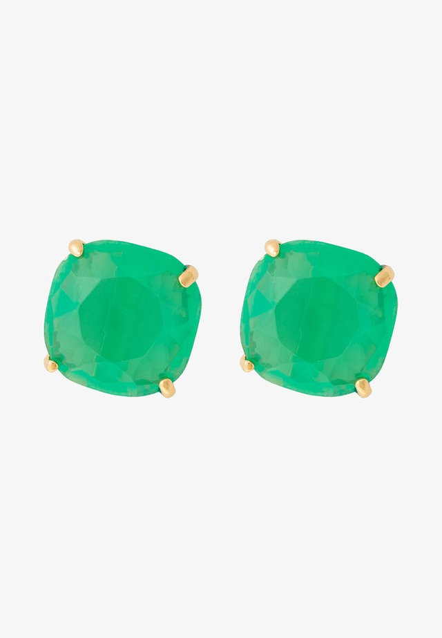 Earrings - dark green