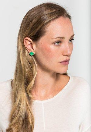Earrings - dark green