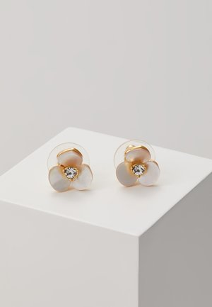 DISCO PANSY STUDS - Øreringe - cream/clear
