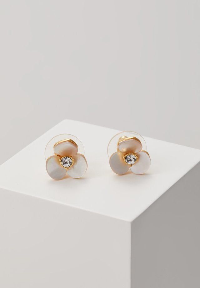 DISCO PANSY STUDS - Örhänge - cream/clear