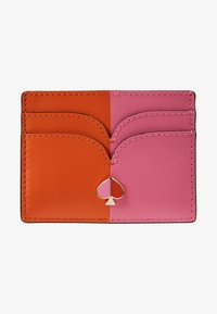 kate spade new york - NICOLA BICOLOR CARD HOLDER - Visitenkartenetui - juicy orange/hibiscus tea - 1