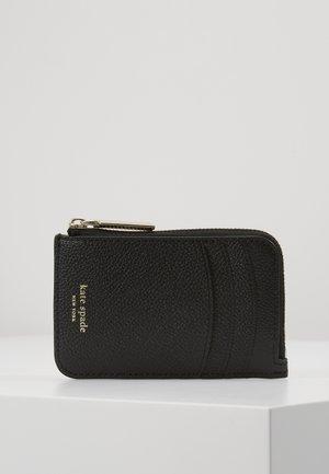 MARGAUX ZIP CARD HOLDER - Portfel - black