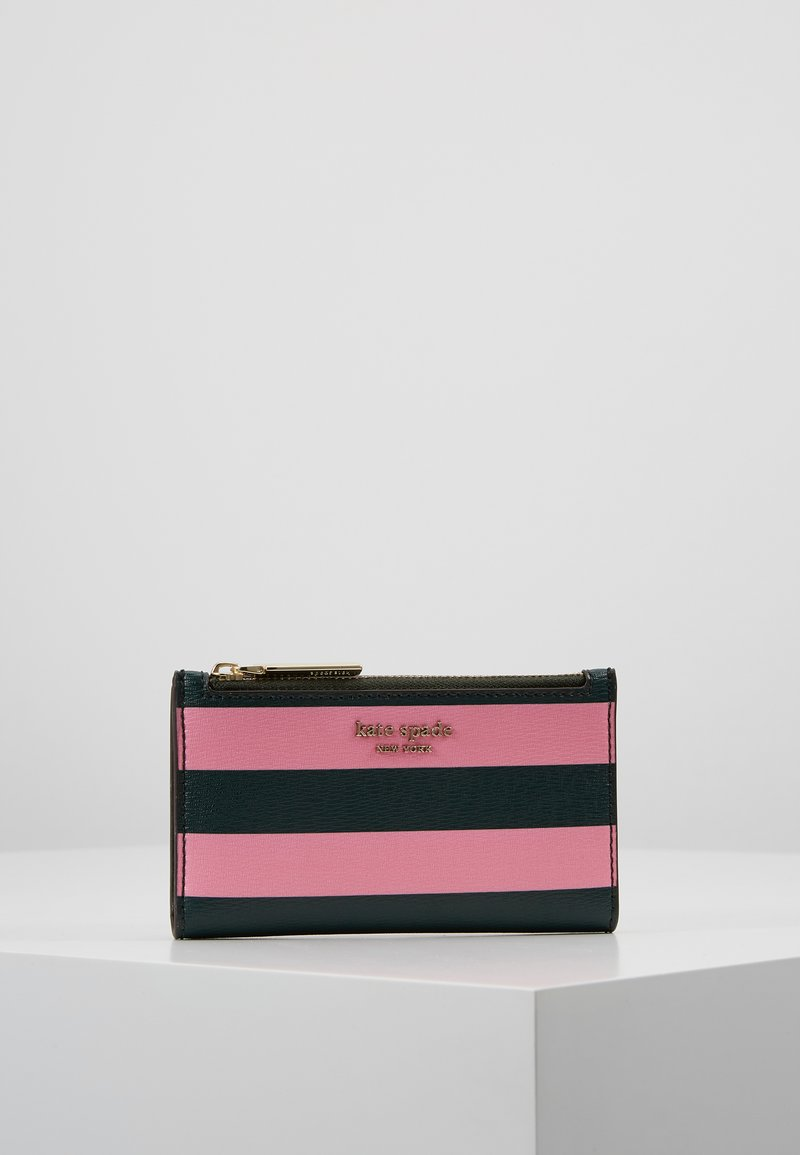 kate spade new york - SYLVIA STRIPE SMALL SLIM BIFOLD WALLET - Portfel - pink