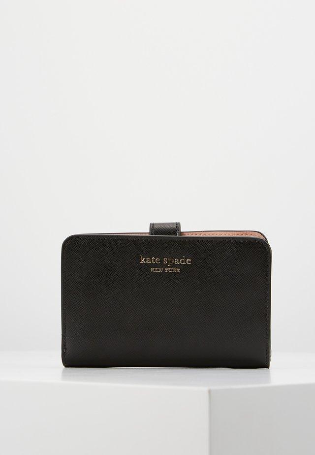 SPENCER SAFFIANO COMPACT WALLET - Wallet - black