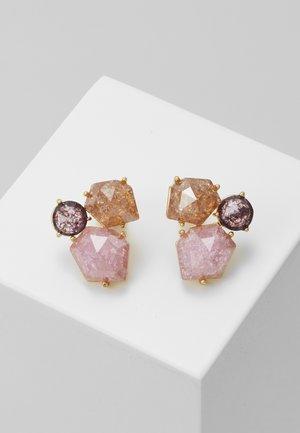 CLUSTER STUDS - Earrings - pink multi