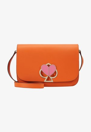 NICOLA TWISTLOCK MEDIUM FLAP SHOULDER - Torba na ramię - juicy orange