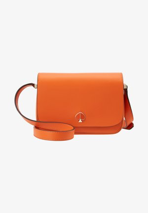 NICOLA SMALL FLAP SHOULDER - Skuldertasker - juicy orange