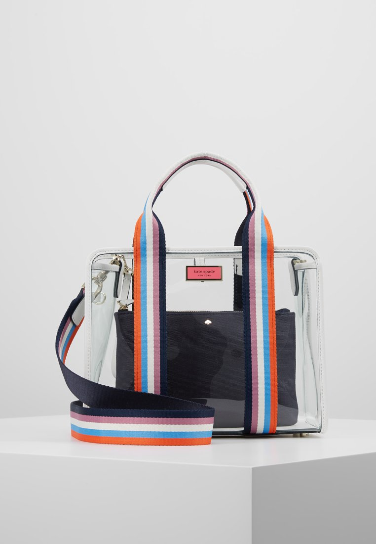 kate spade new york - SEE-THROUGH SATCHEL - Käsilaukku - blazer blue/multi