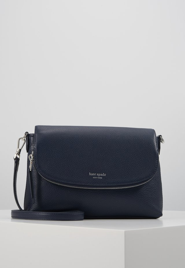 POLLY LARGE FLAP CROSSBODY - Axelremsväska - blazer blue