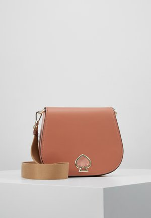 SUZY LARGE SADDLE - Handtasche - tawny multi
