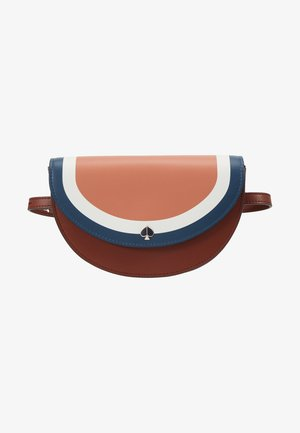 ANDI STRIPE SMALL HALF MOON BELT BAG - Gürteltasche - tawny multi