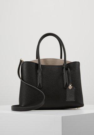 MEDIUM SATCHEL - Handbag - black/warm taupe