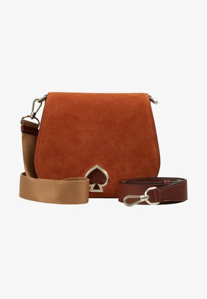 LARGE SADDLE BAG - Torba na ramię - amber