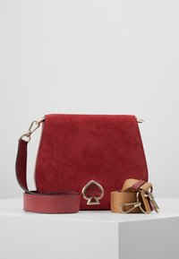 kate spade new york - LARGE SADDLE BAG - Torba na ramię - rosewood - 0