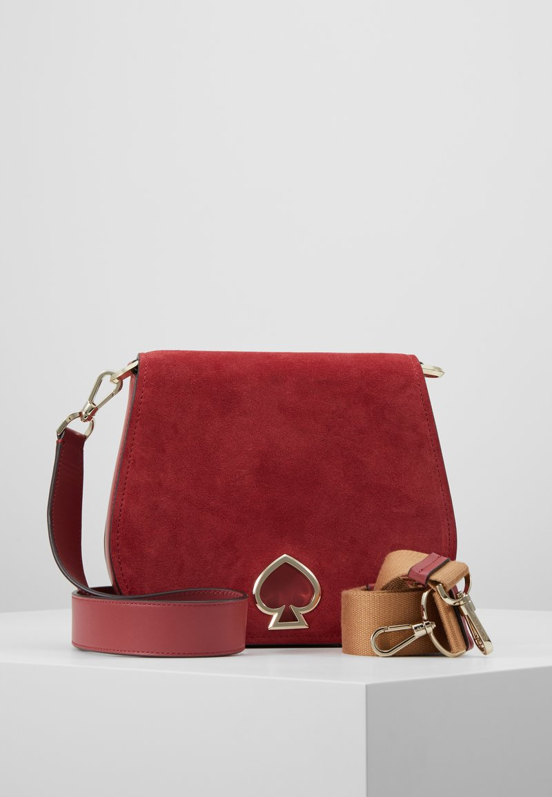 kate spade new york - LARGE SADDLE BAG - Torba na ramię - rosewood