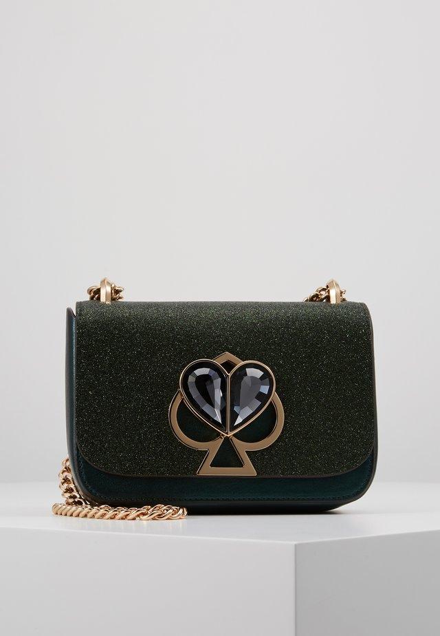 NICOLA GLITTER TWISTLOCK MINI - Schoudertas - green jade