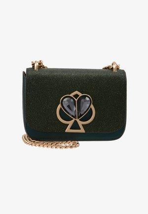 NICOLA GLITTER TWISTLOCK MINI - Across body bag - green jade