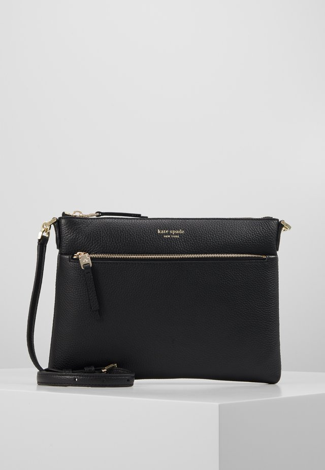 POLLY MEDIUM CROSSBODY - Axelremsväska - black