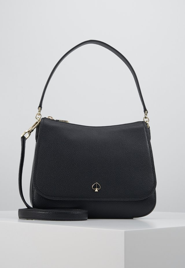 POLLY FLAP SHOULDER - Sac bandoulière - black