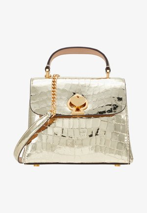ROMY MINI TOP HANDLE CROC - Håndtasker - gold
