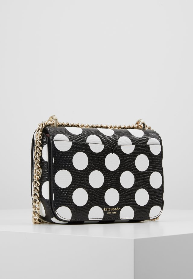 NICOLA BIKINI DOT CHAIN SHOULDER BAG - Sac bandoulière - black/multi