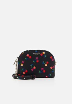 SPENCER CHERRIES SMALL DOME CROSSBODY - Across body bag - black