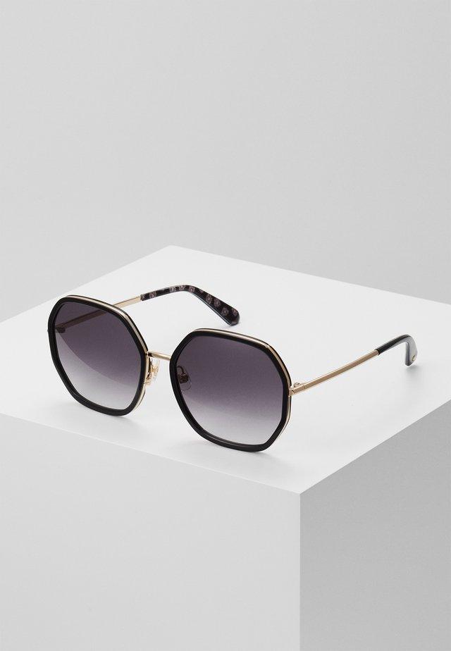 NICOLA - Okulary przeciwsłoneczne - gold-coloured/black