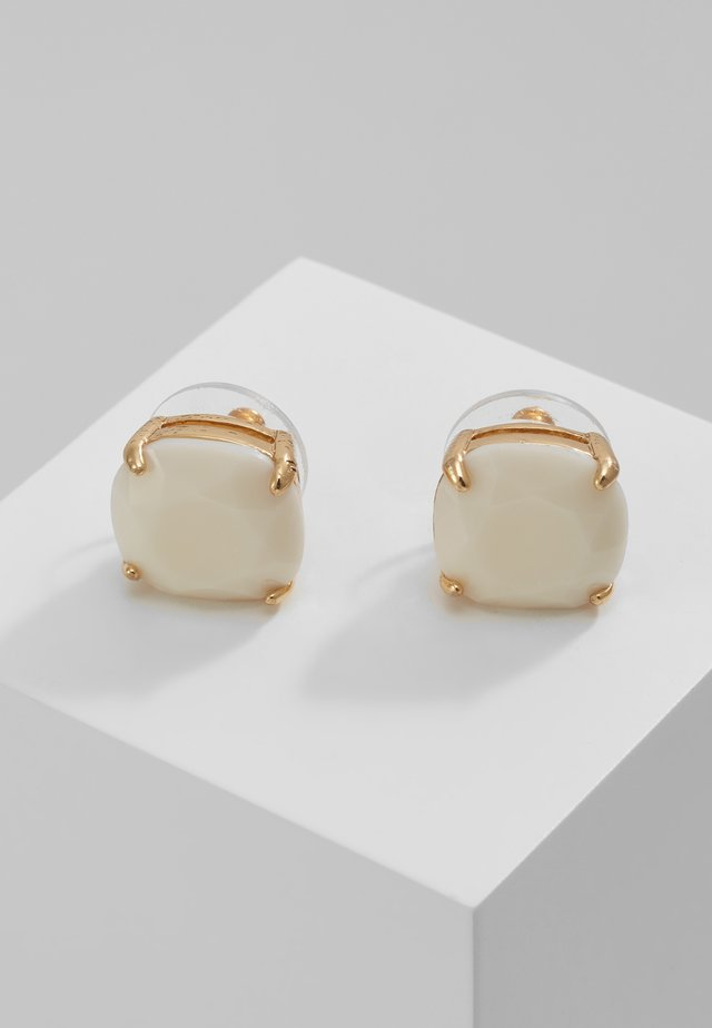 SMALL SQUARE STUDS - Earrings - white