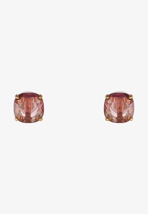 EARRINGS SMALL SQUARE STUDS - Earrings - pink
