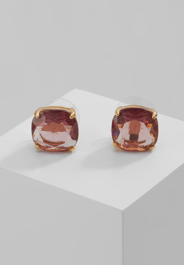 EARRINGS SMALL SQUARE STUDS - Kolczyki - pink