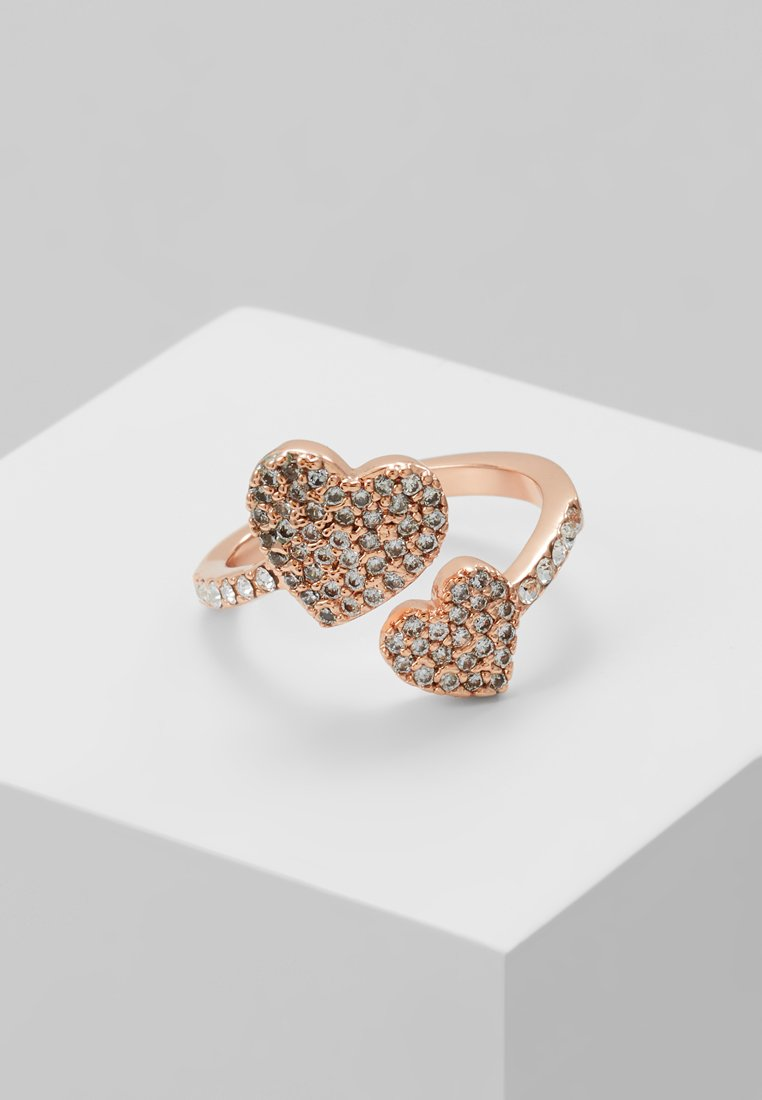 kate spade new york - YOURS TRULY PAVE HEART RING - Anillo - clear/rose