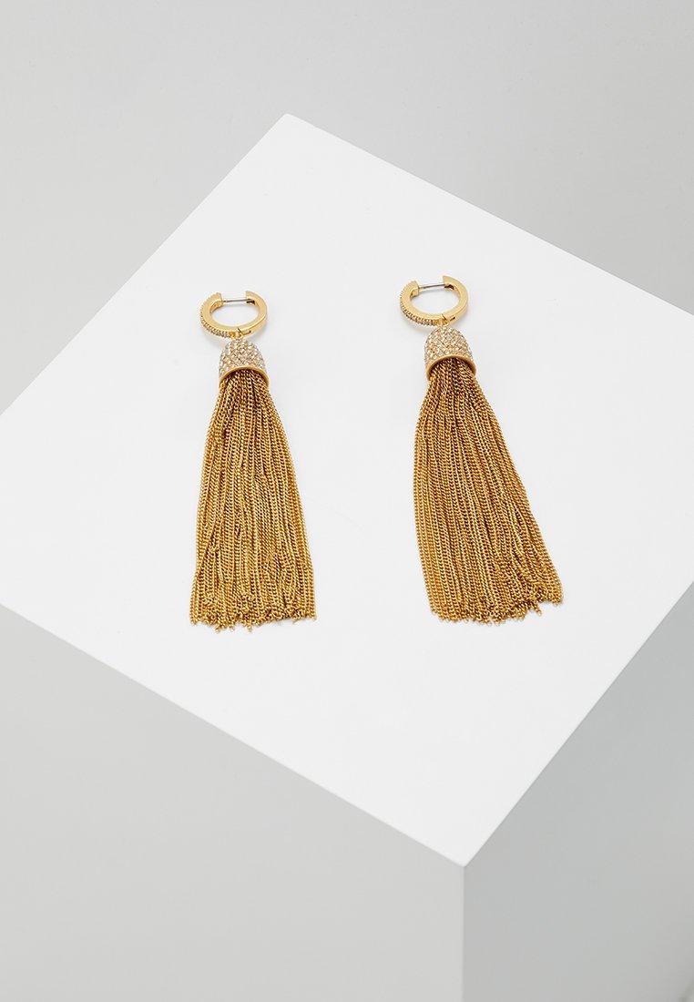 kate spade new york - GLIMMER SHIMMER HUGGIE EARRINGS - Earrings - clear gold-coloured