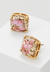 kate spade new york - EARRINGS GLITTER SMALL SQUARE STUDS - Øreringe - blush/multi