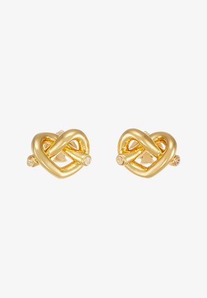 LOVES ME KNOT LOVES ME KNOT STUDS - Earrings - gold-coloured