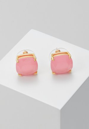 EARRINGS SMALL SQUARE STUDS - Earrings - meadow pink