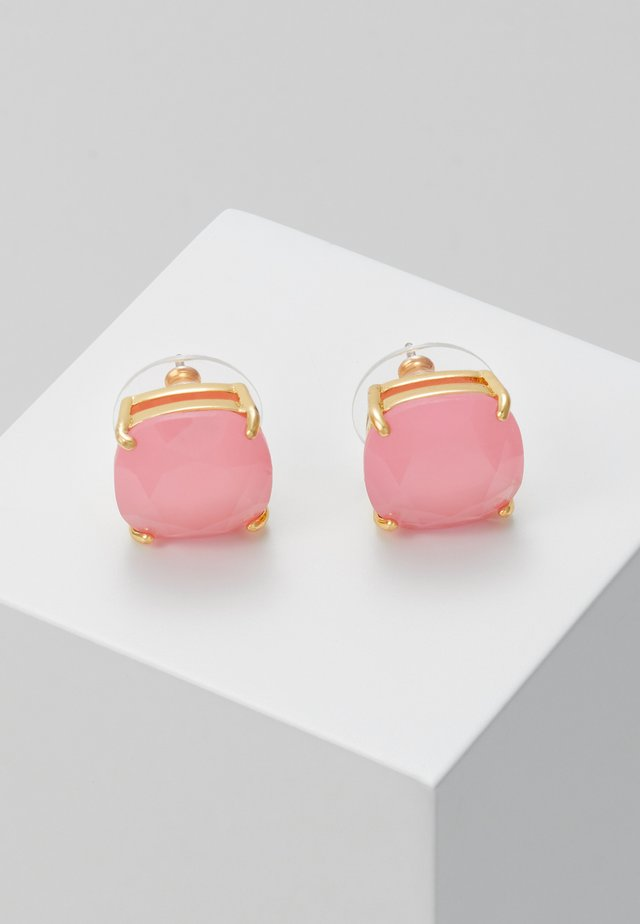 EARRINGS SMALL SQUARE STUDS - Örhänge - meadow pink