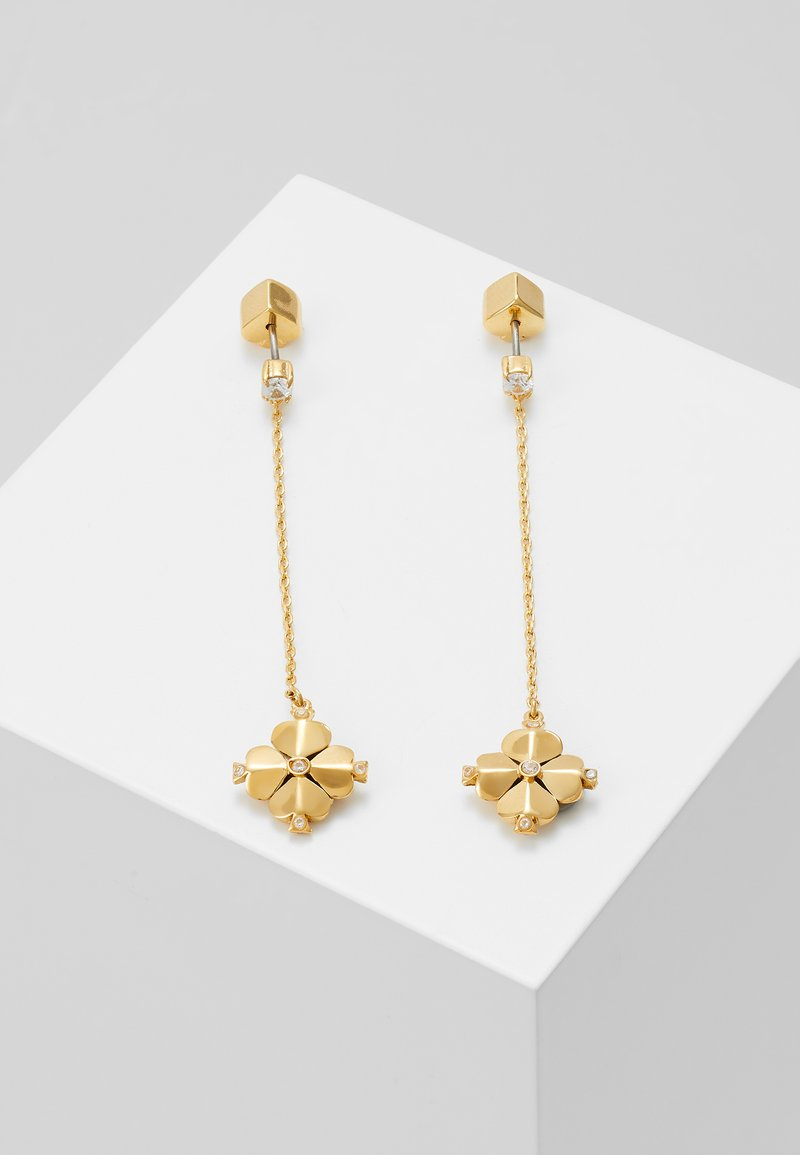 kate spade new york - LEGACY LOGO FLOWER LINEAR - Pendientes - clear/gold-coloured