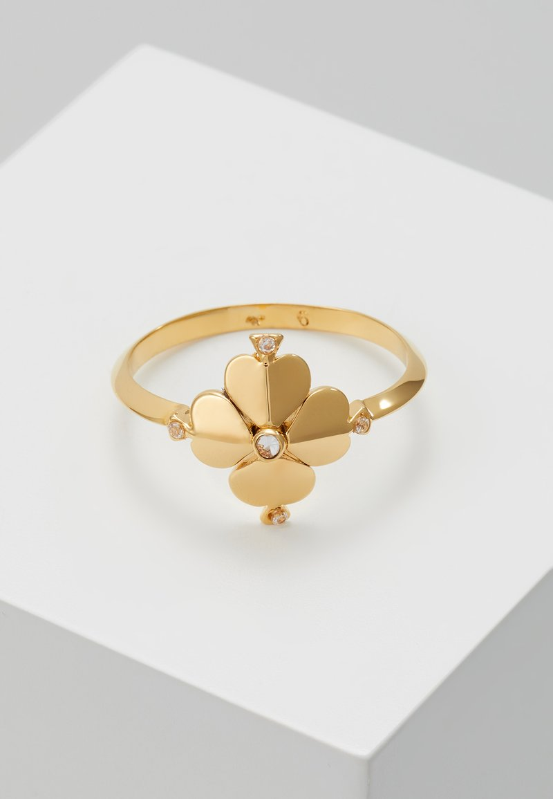 kate spade new york - LEGACY LOGO FLOWER - Prsten - clear gold-coloured